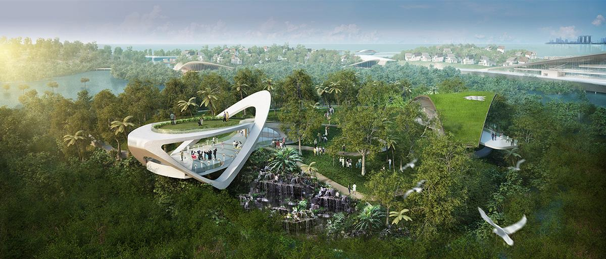 Eco-themed activities will include aquaculture tours in the surrounding waters, as well as nature trails allowing visitors to explore the island's unspoiled environment / Funtasy Island