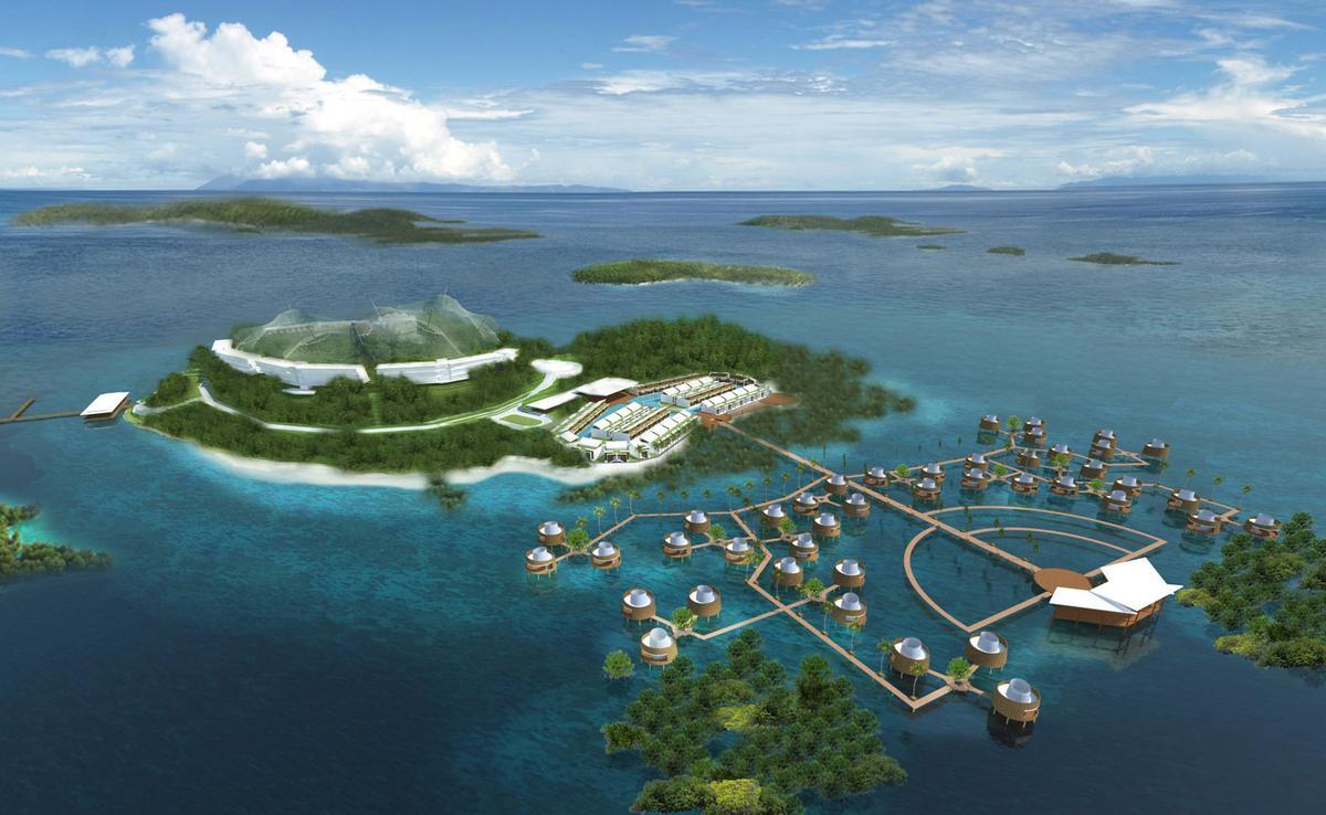 Singaporean studio WOW Design Studio have masterplanned the island 'in the spirit of the film Avatar' / Funtasy Island