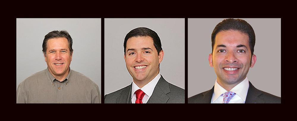 from left to right, Jack Hill, project executive, San Francisco 49ers, Jed York, San Francisco 49ers CEO and chief technology officer Kunal Malik