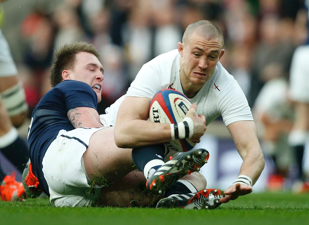 Mike Brown suffered concussion during a Six Nations match against Wales last year
