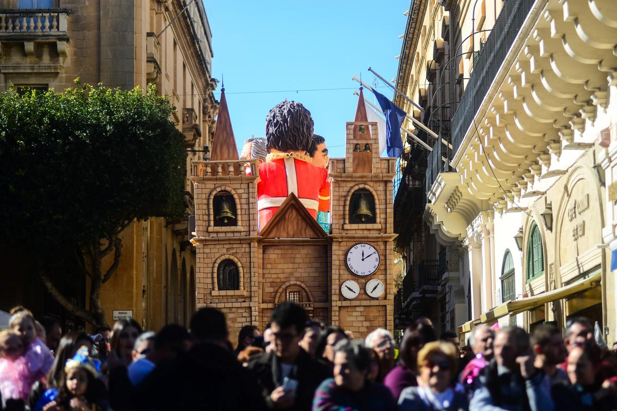 The city's St John's Cathedral was also celebrated on the float / Valletta 2018/ Jonathan Borg