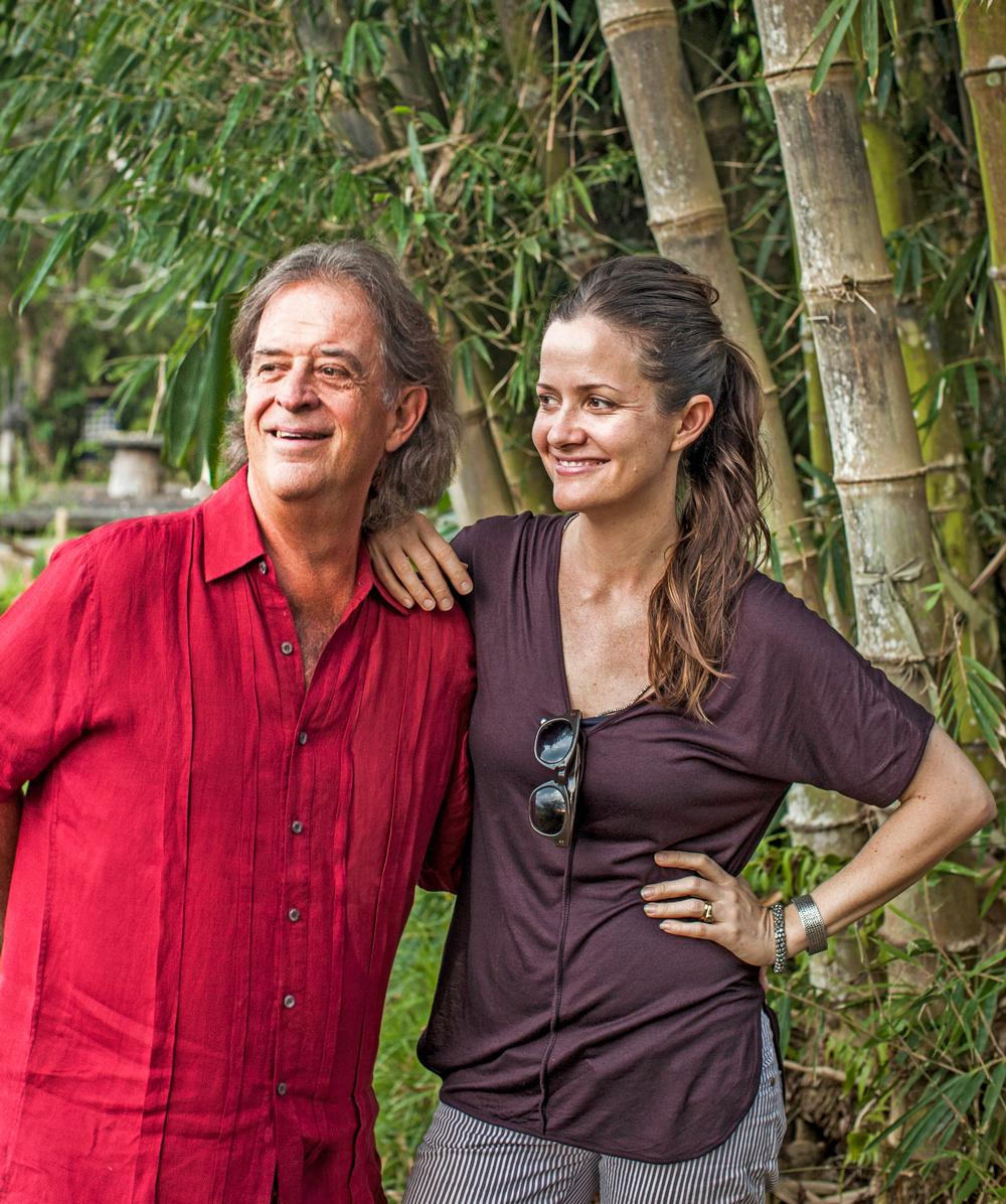 Father and daughter John and Elora Hardy in Bali