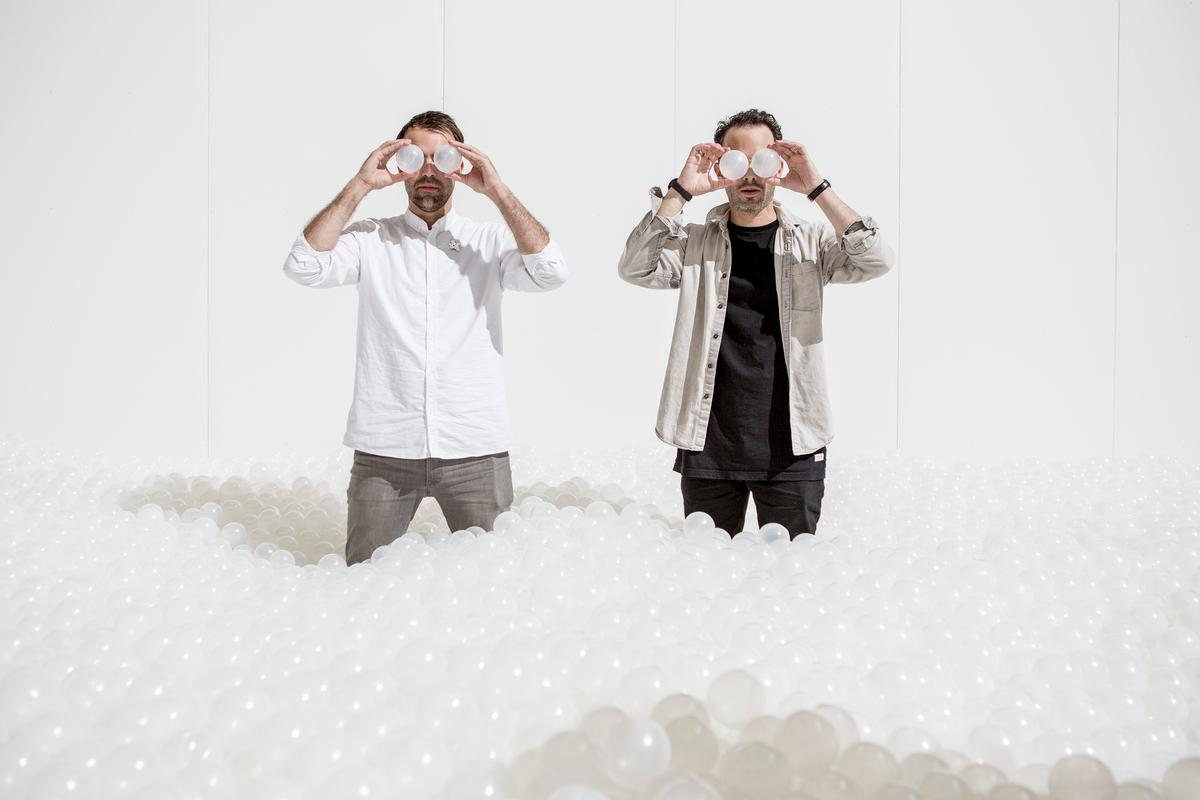 Alex Mustonen and Daniel Arsham of Snarkitecture / Noah Kalina