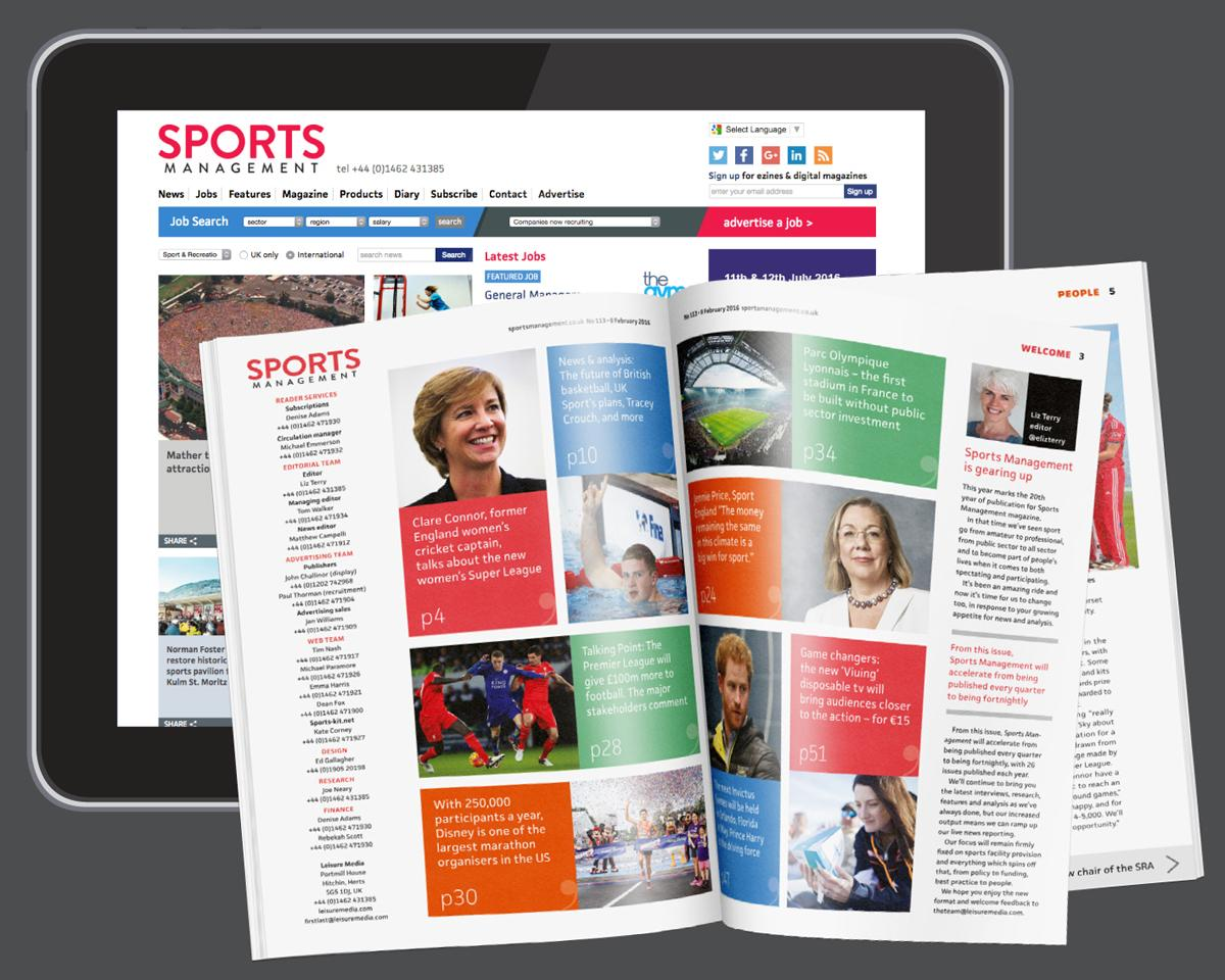 <i>Sports Management</i> magazine will now be a fortnightly publication