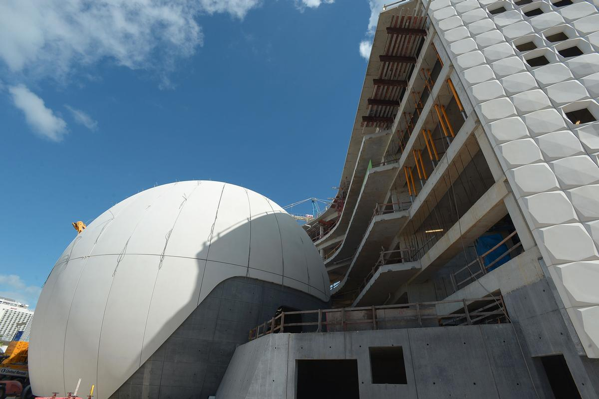 Construction has entered the final phase / Patricia and Phillip Frost Museum of Science