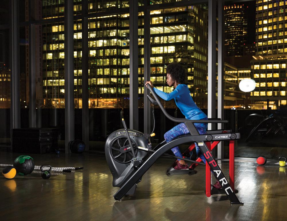 Self-powered kit can be moved freely round the gym without the need for electrical sockets