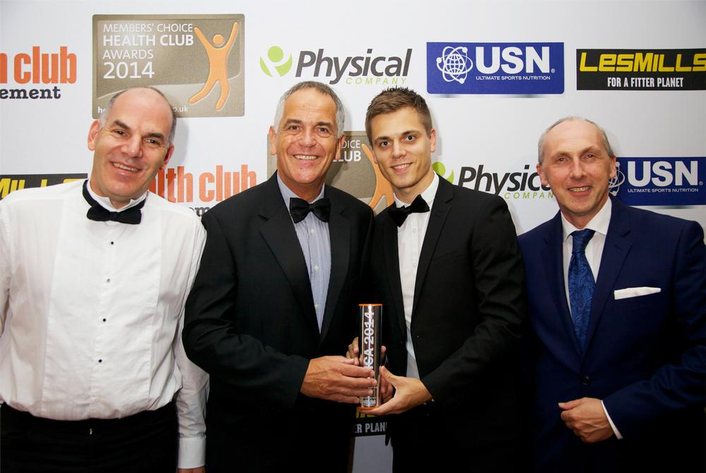 Avalon Leisure are presented with their Silver in the Best Small Chain category – one of the evening's national awards – by sponsor USN