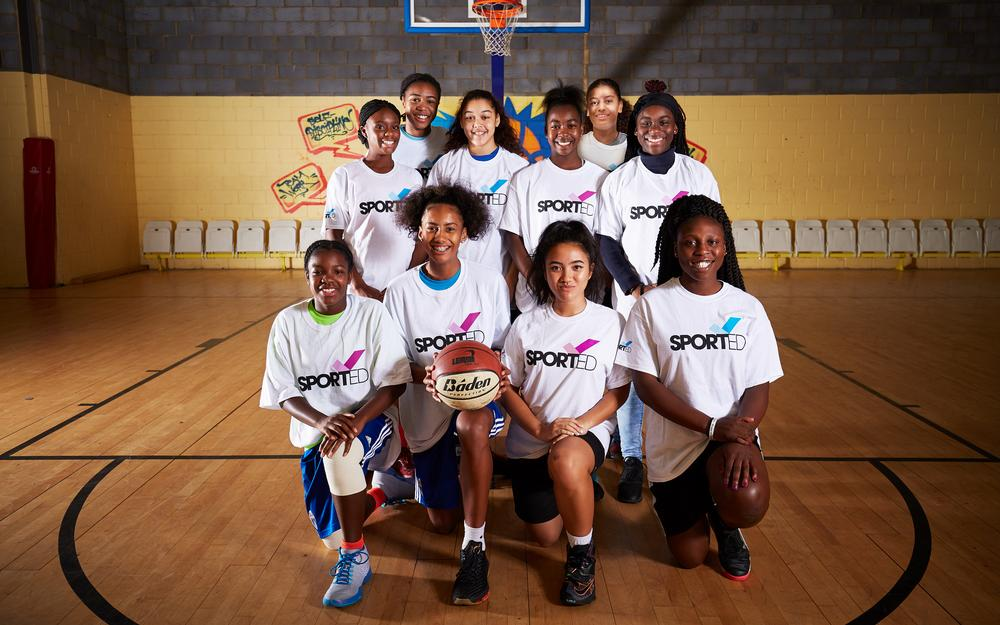 Sport teams, such as basketball, help young people build confidence and resilience