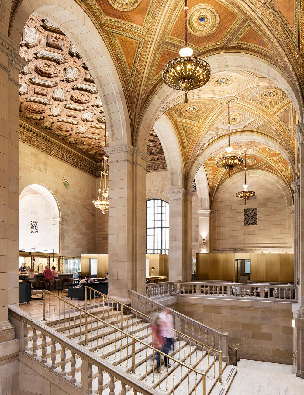 Henri Cleinge transformed a former banking hall into a café and coworking space