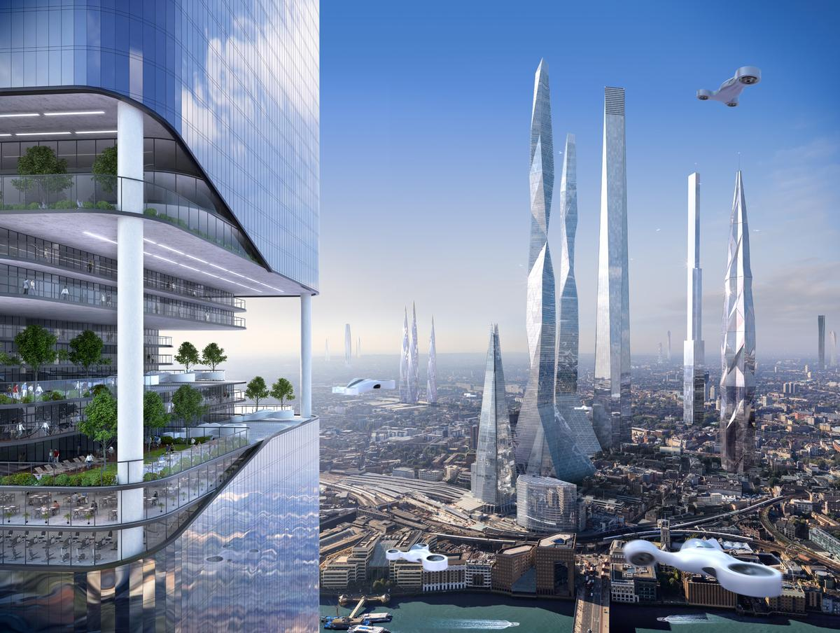 The Report Imagines A Future Where Apartment Buildings Dwarf Shard In London Currently Tallest Building Western Europe SmartThings