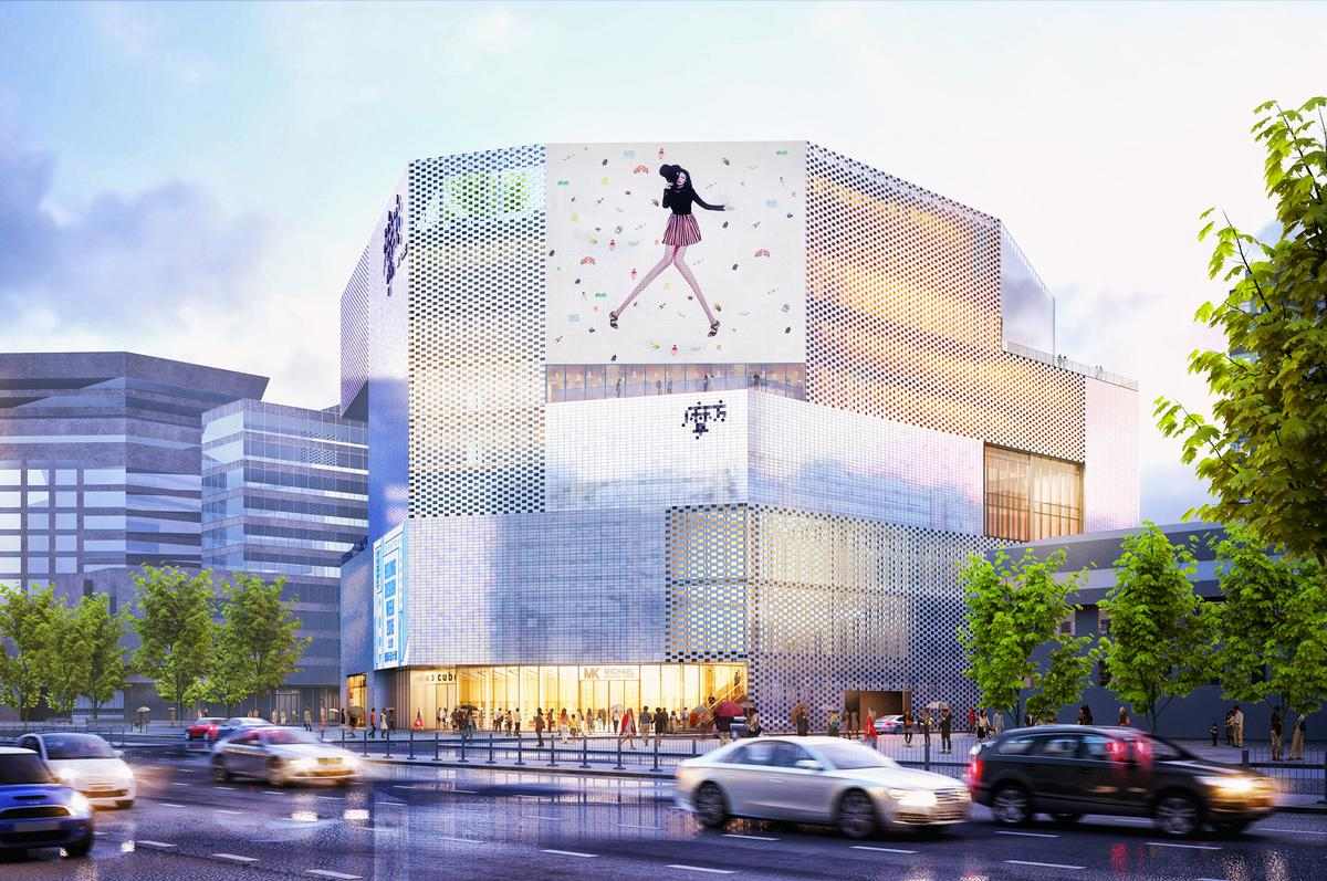 The façade will radiate a broad spectrum of colours that change depending on where and when they're viewed / MVRDV