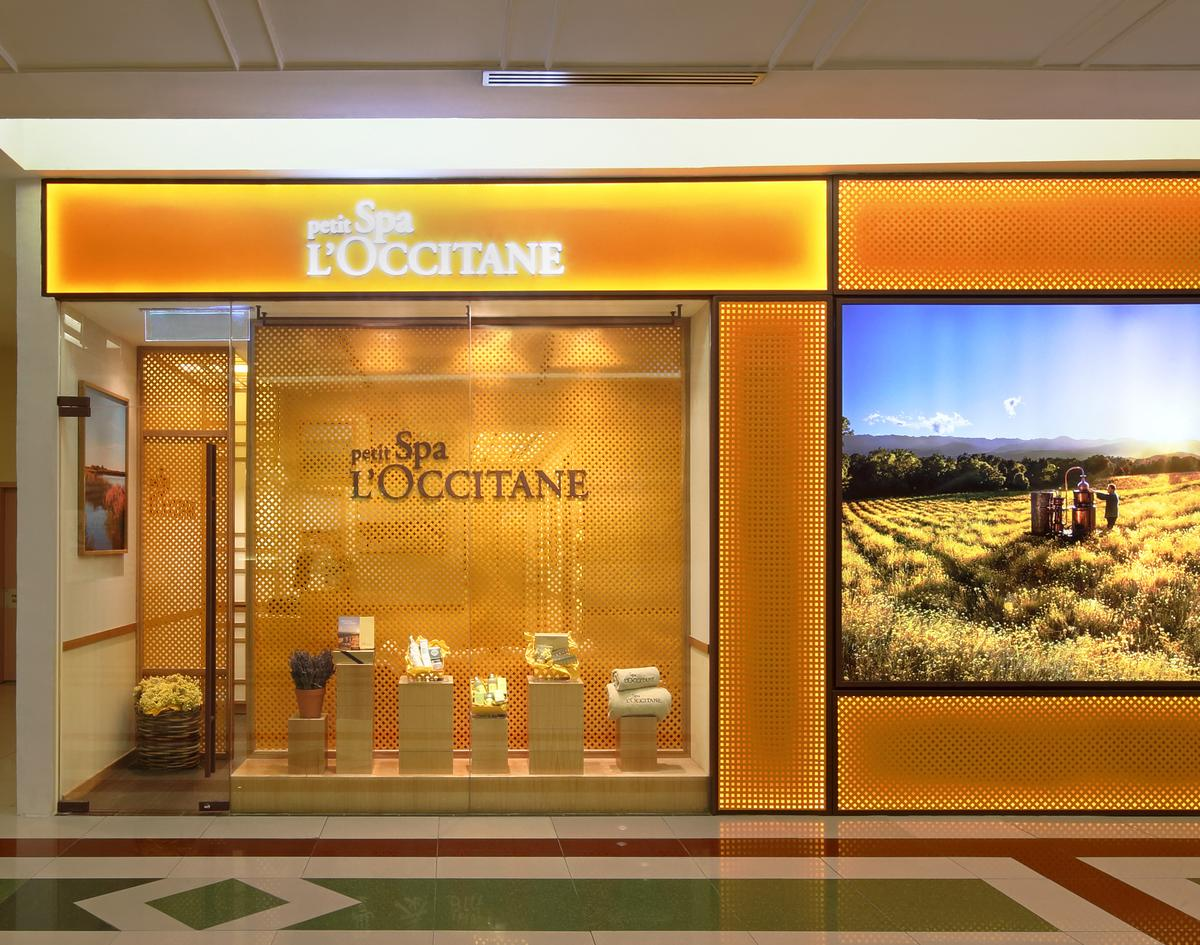 The spa incorporates L'Occitane's signature back-to-nature concept