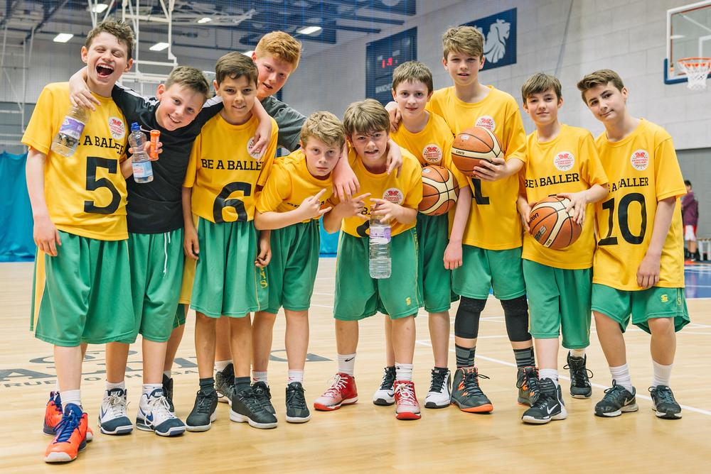 BE a Baller Day brought school teams together, to attract more young people into the sport