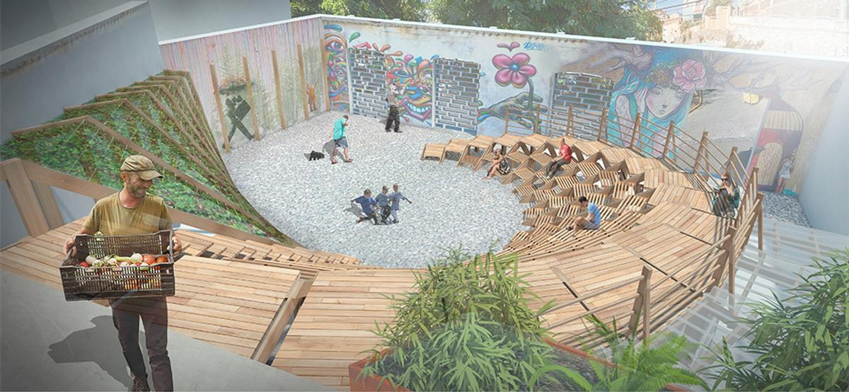 The Wave will feature a swirling seating space / Scarcity and Creativity Studio/AHO