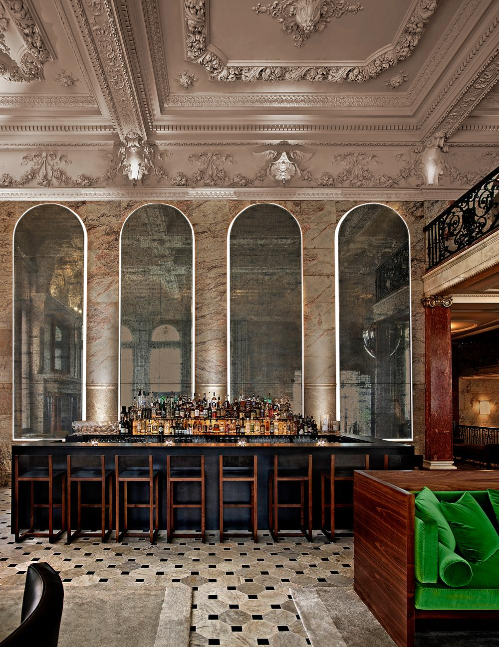 The London Edition's Lobby Bar is the heart of the hotel, say Yabu and Pushelberg