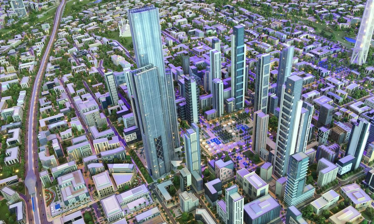 The Capital Cairo masterplan has been developed by Capital City Partners / Capital City Partners