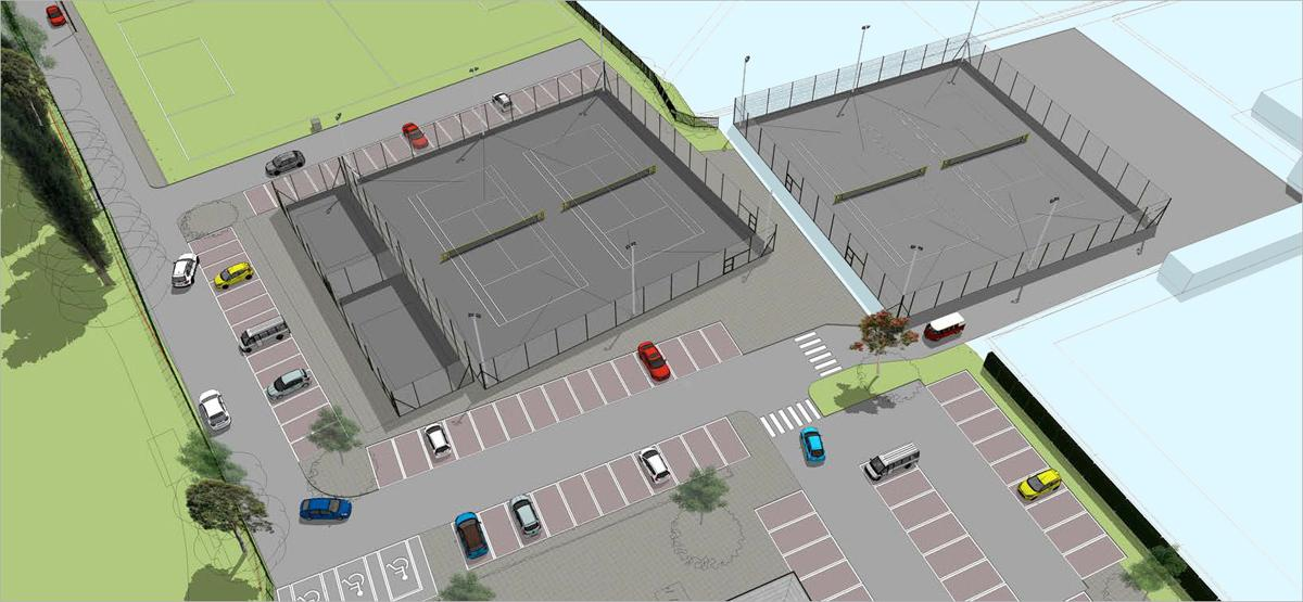 An artists impression of the redeveloped Brigg Recreation Ground