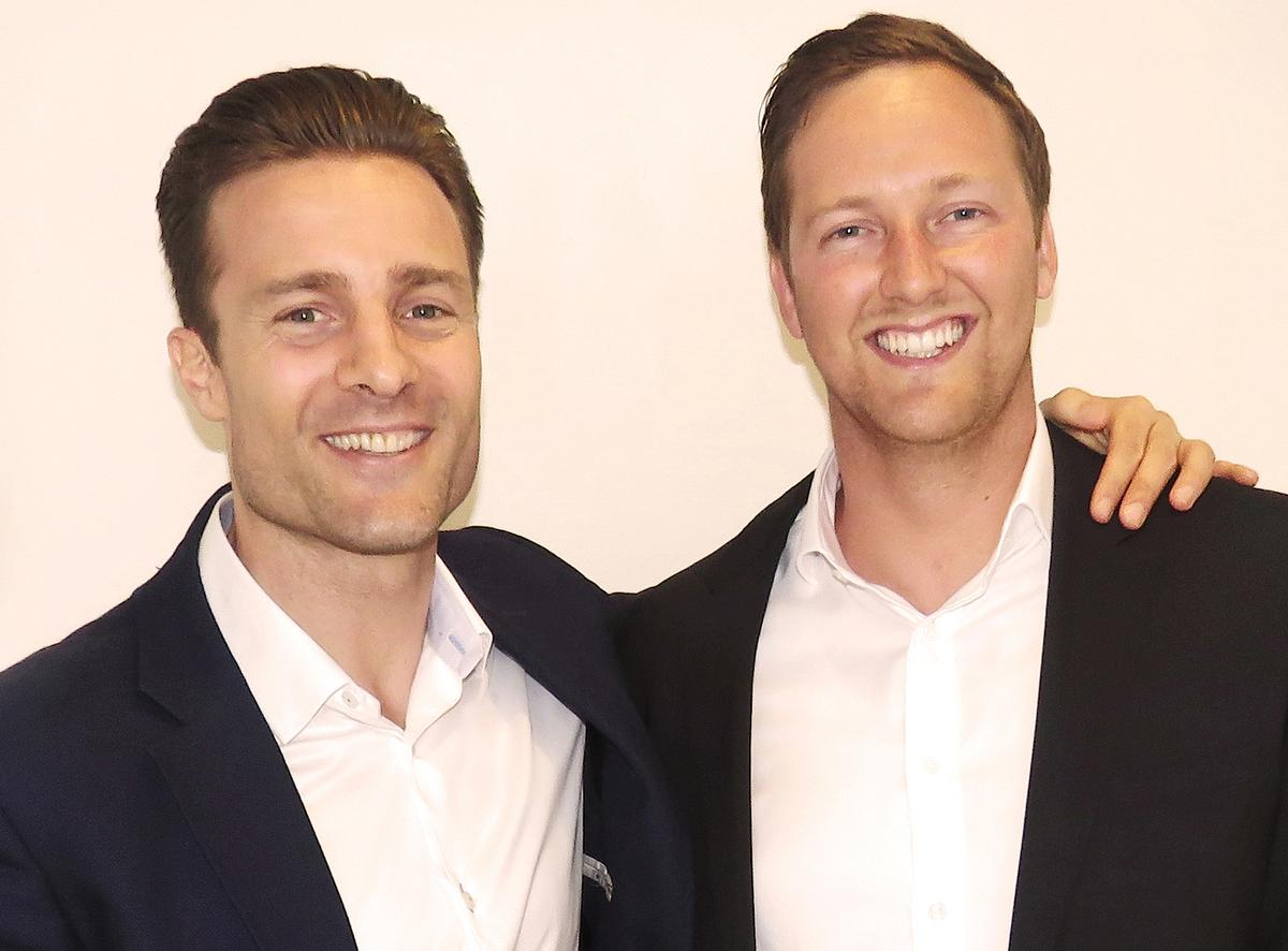 Paul Bowman (right) takes over as CEO from Wexer Virtual founder Rasmus Ingerslev