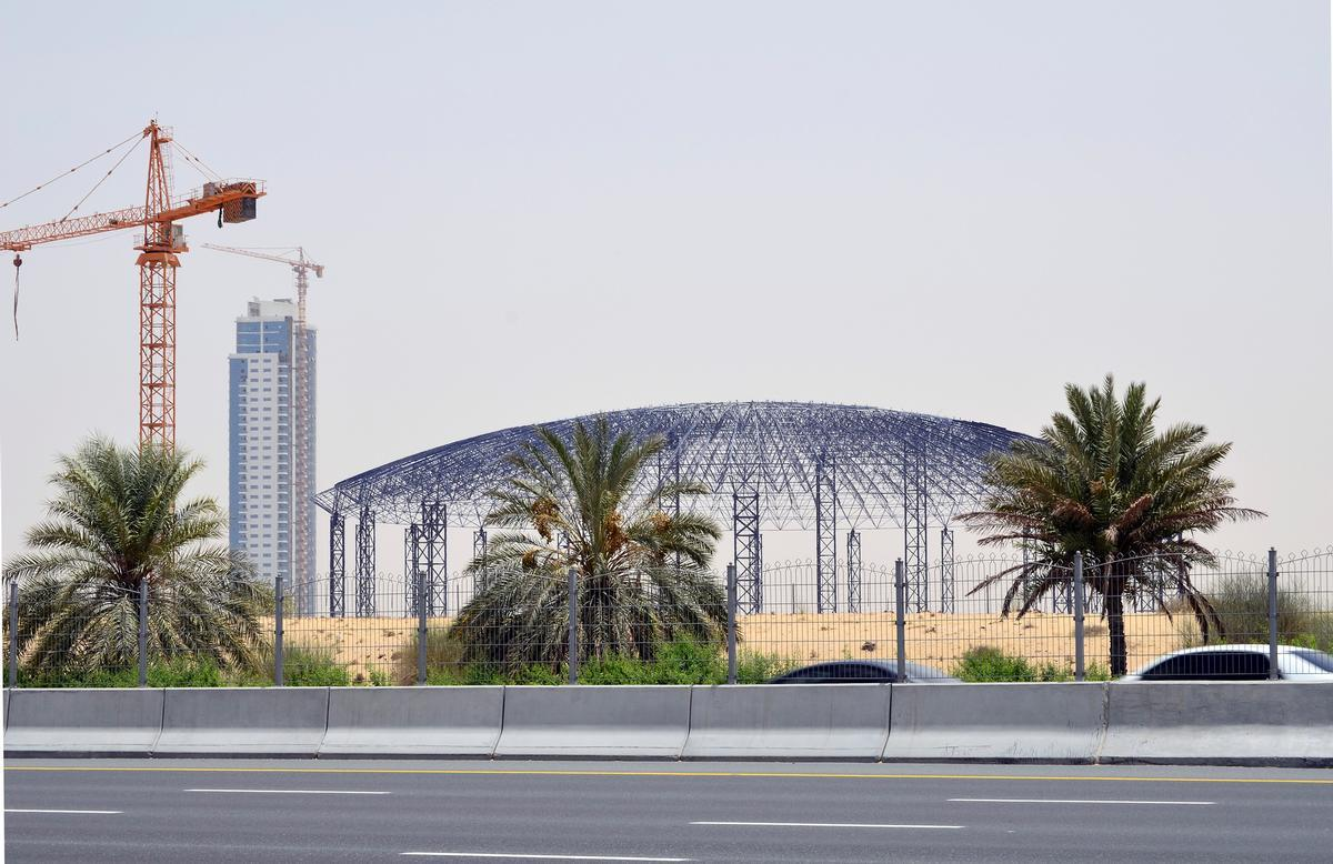 Once open, Dubai's IMG Worlds of Adventure will be the largest indoor theme park in the world