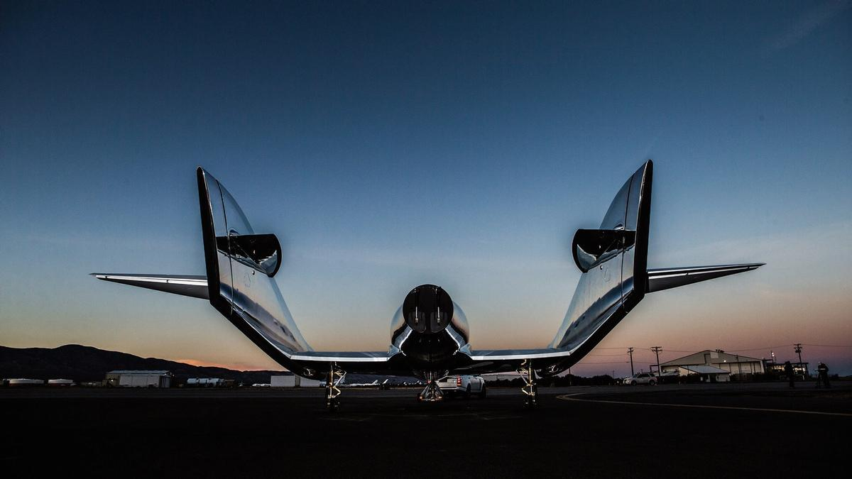 First unveiled in 2008, the passenger plane is piggybacked to a high altitude by a larger plane