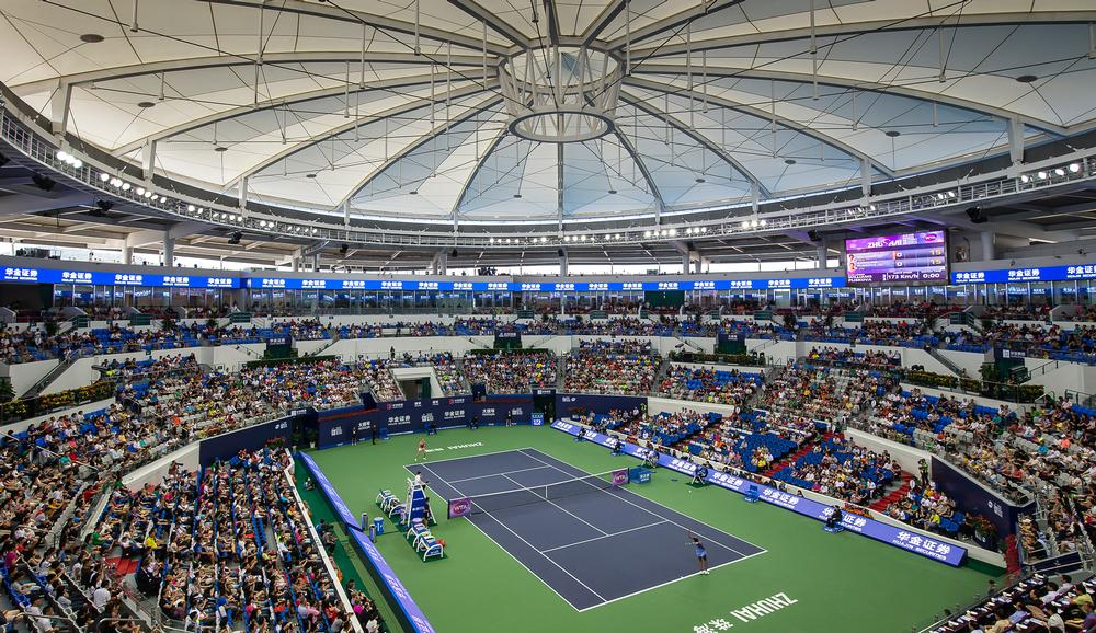 Populous  has had an interest in China since, designing the Zhuhai International Tennis Centre, above