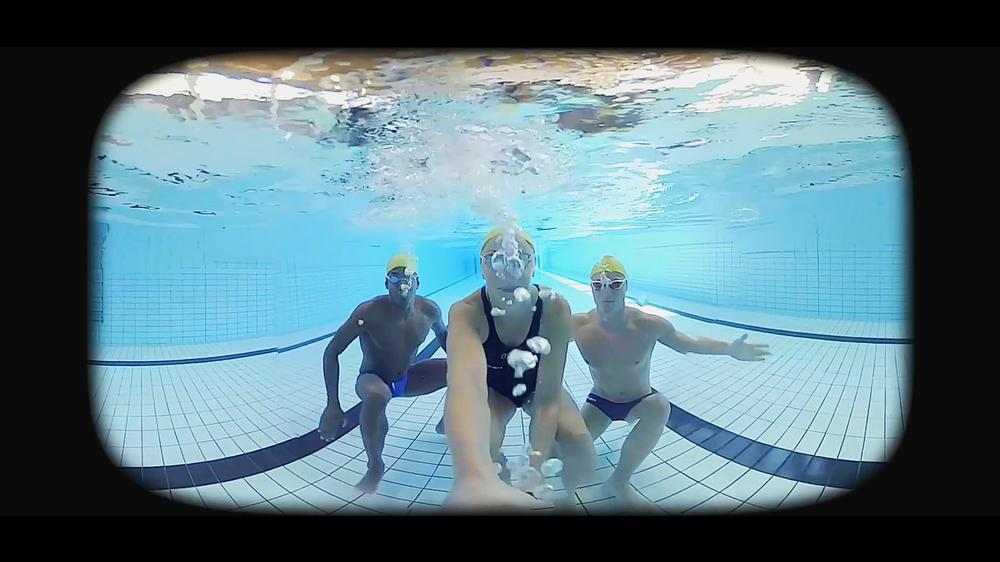 Famous swimmers Simon Sjödin, Erik Persson and Jennie Johansson produced their own VR guides to the pool