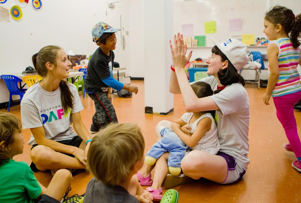 Activity leaders are trained by DAFA in a way that best meets the community's needs