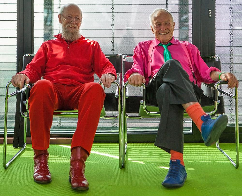 Mike Davies and Richard Rogers, who first worked together on the Pompidou Centre project / Photo: Paul McLaughlin
