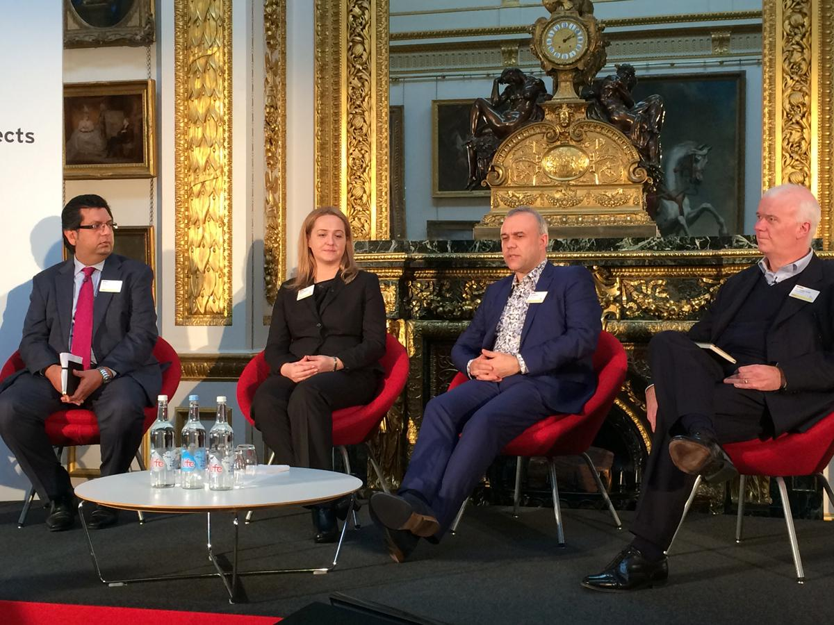 UKTI's Aizaz Thapur (left) and Taissia Zelenkova (centre-left) revealed business opportunities around the 2018 and 2022 FIFA World Cups