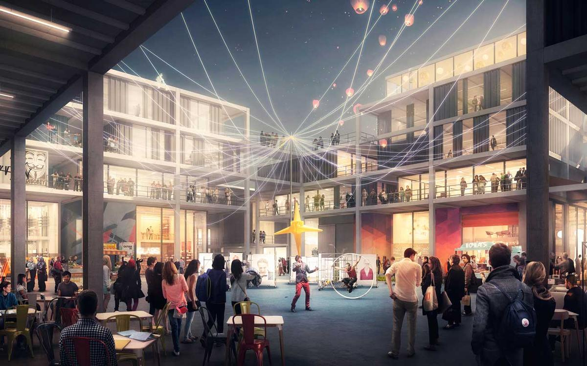 Architecture Design In Dubai foster + partners win design competition for hipster creative hub