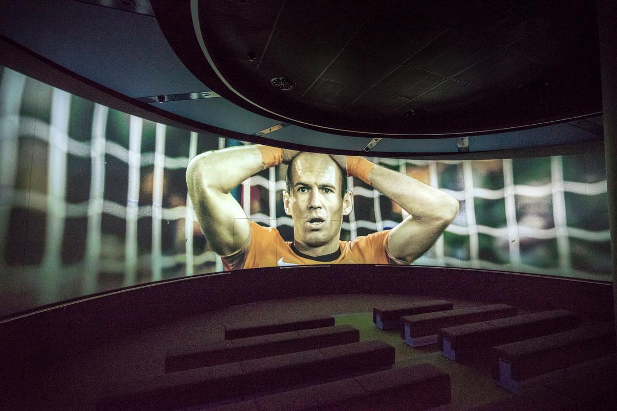 The museum's cinema uses a panoramic shooting technique / FIFA