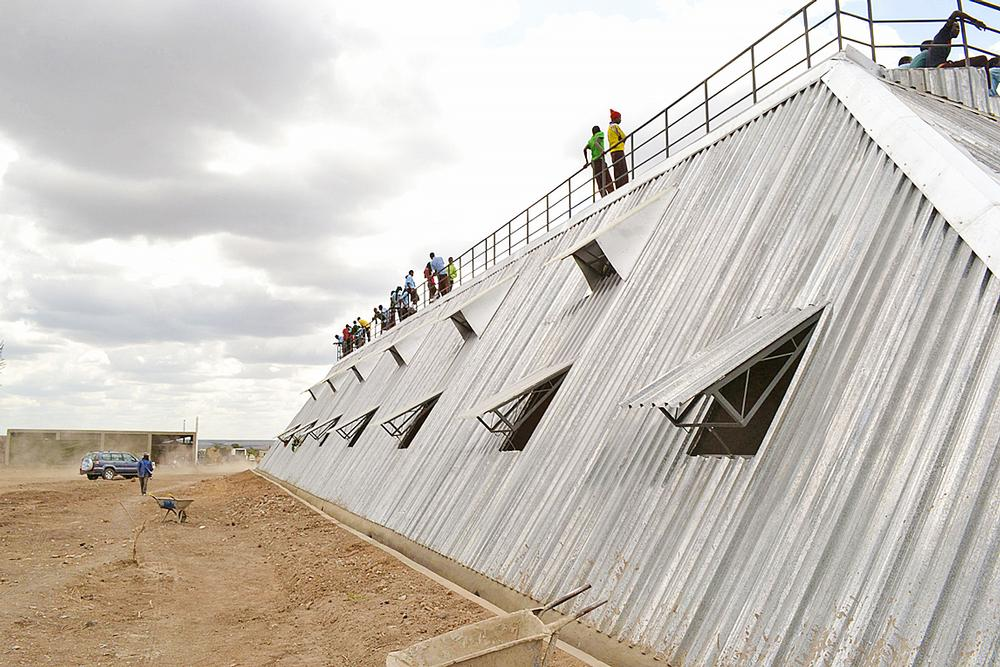 Waterbank Campus, Kenya: This high school campus, by design group PITCHAfrica, harvests rainwater and includes a 1,500 capacity football stadium