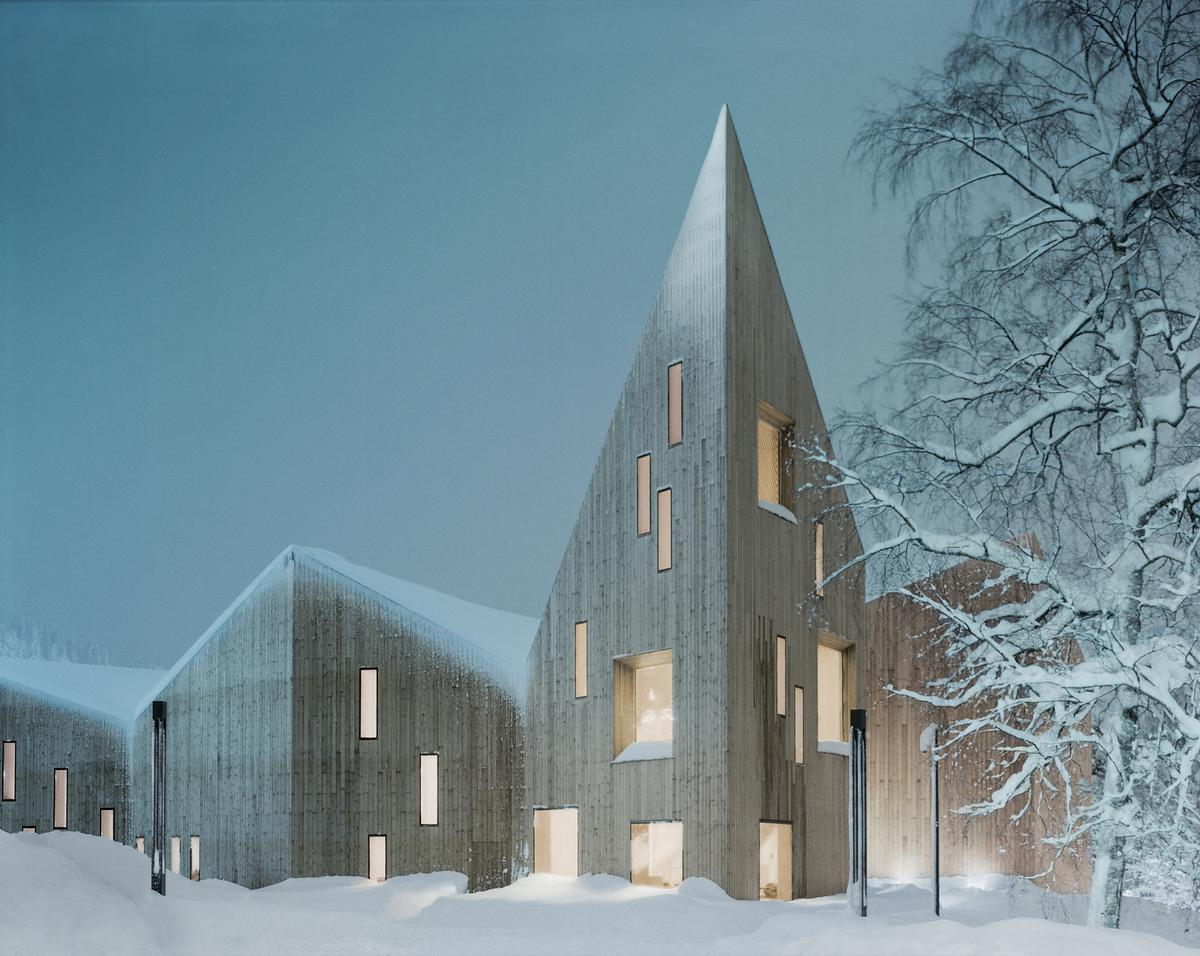 Molde is known for its ethereal pine forests, and the architects have evoked this environment in their design for the building / Reiulf Ramstad Arkitekter