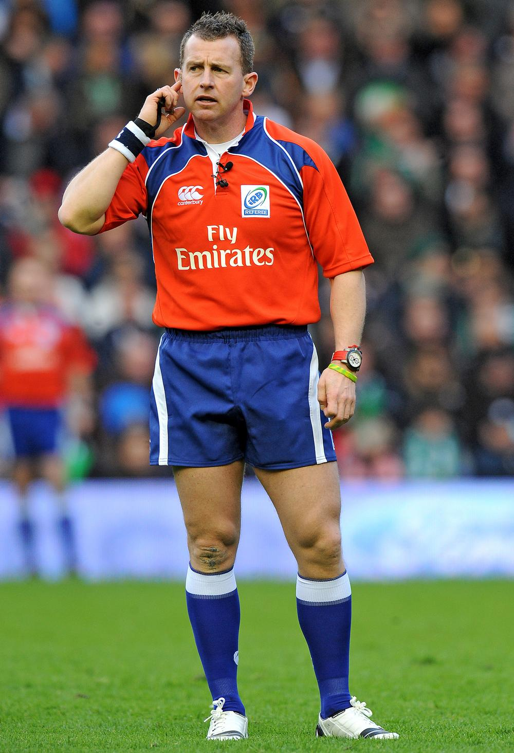 Owens began refereeing rugby union in 1987, and has now refereed 81 international test matches / © Tony Marshall/EMPICS Sport