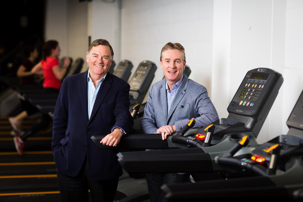 Pure Gym CEO Humphrey Cobbold (right) and executive chair Peter Roberts