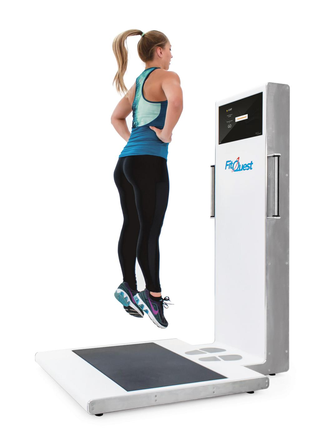 Explosive leg power, and upper and lower body strength are among the measures of fitness assessed by the device