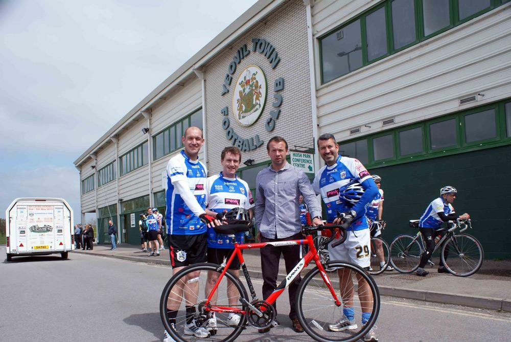 Huddersfield Town's 'Pedal for Pounds' cycling events promote physical activity while also raising money for charity