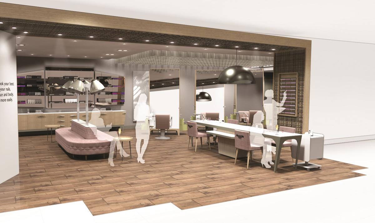 The new 2,500sq m (26,910sq ft) concept will offer a relaxation spa area, including four treatment rooms, for guests to enjoy massages, body treatments, facials and pamper packages / Regis UK and John Lewis