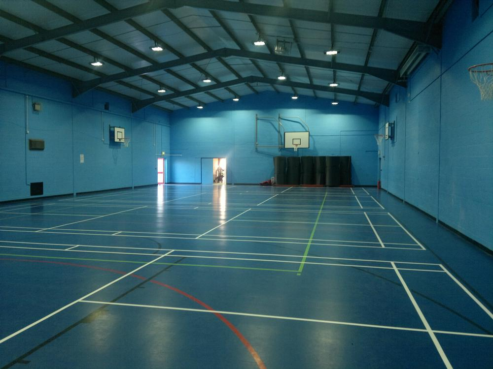 Building work at Preston School in Somerset included a revamped sports hall for use by pupils and the public