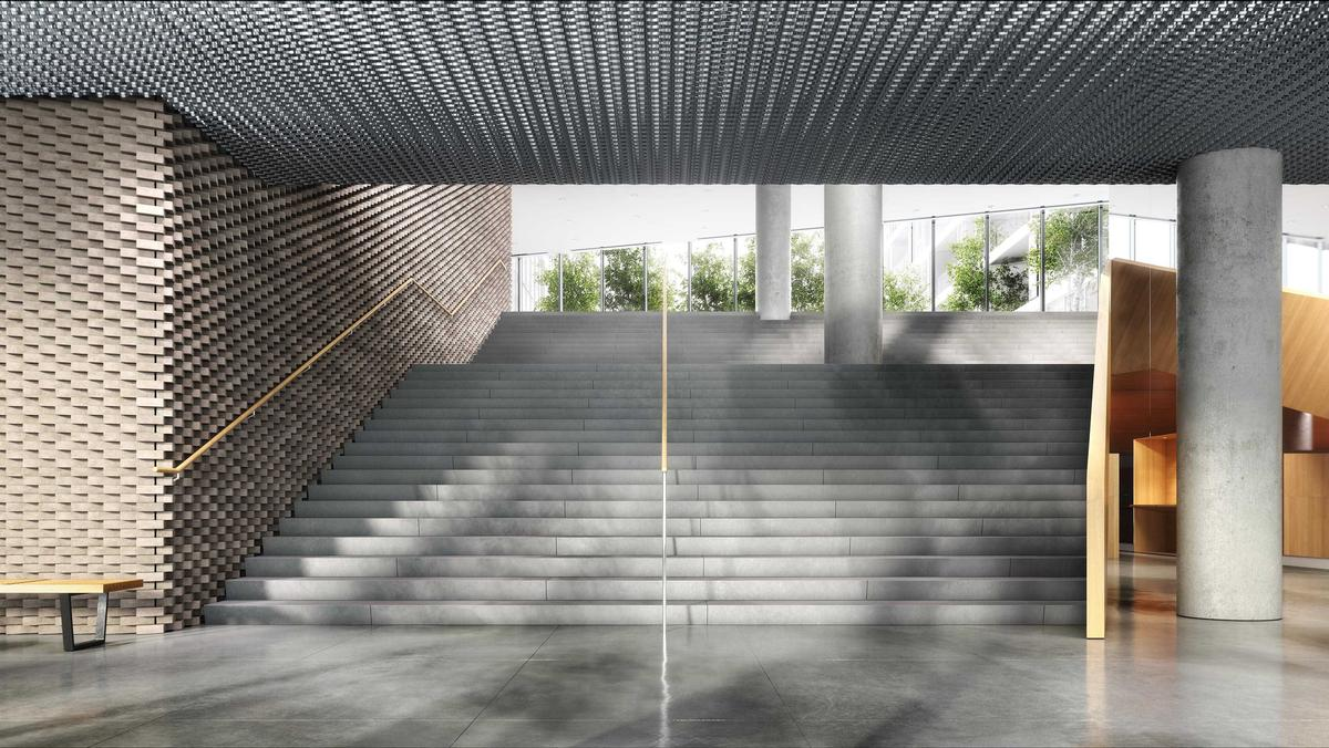 The interiors of the building feature a variety of different materials, forms and textures / The Durst Organization/Via West 57