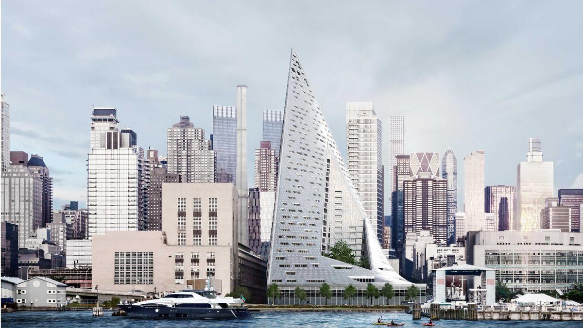 The 'courtscraper' is a vivid new presence on the Manhattan skyline / The Durst Organization/Via West 57