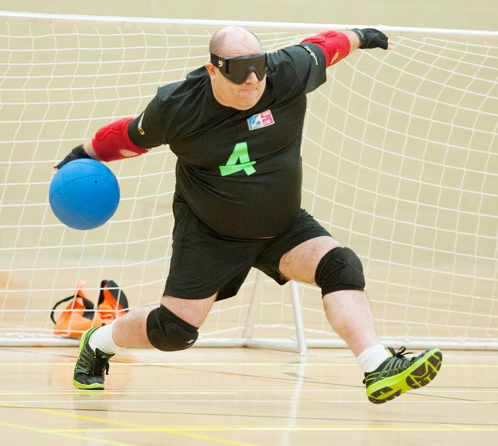 Goalball utilises a ball with bells inside it and raised markings on the court