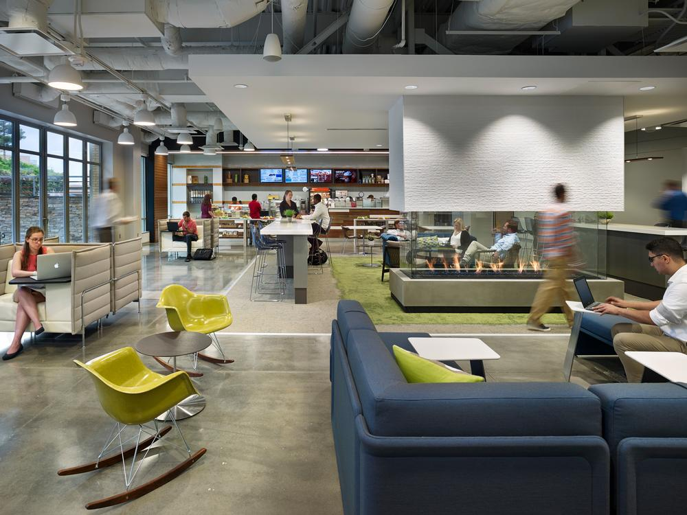Gensler worked on the renovation of Capital One in Richmond, Virgina / Photo: Hakin Mason Photography