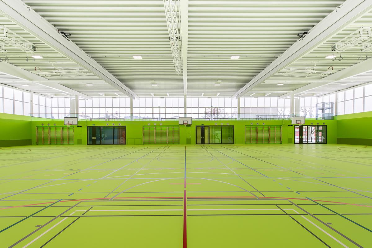 The sports hall is now open after nearly two years of construction / Sue Baer Fotografie