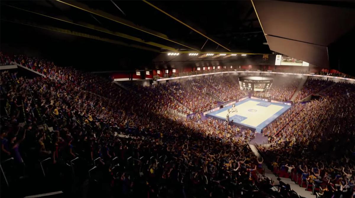 The main court has a capacity of 10,000 spectators / FC Barcelona