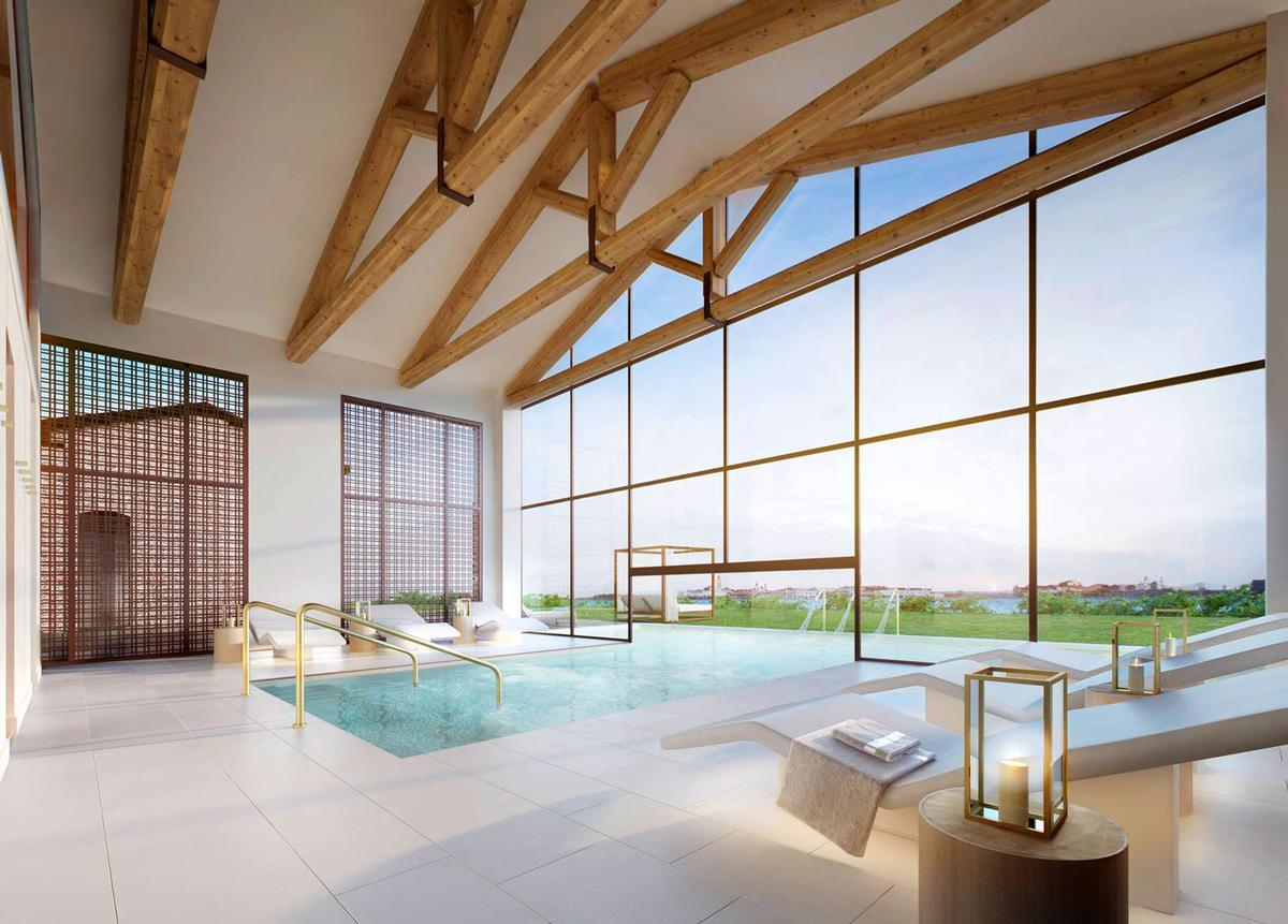 The spa - opening in May –with design and operation by GOCO Hospitality / GOCO