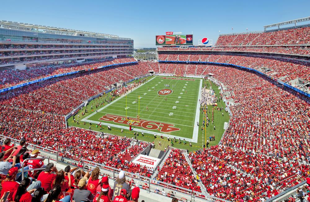 Levi's Stadium in California is a 68,500-capacity multi-use venue designed by HNTB