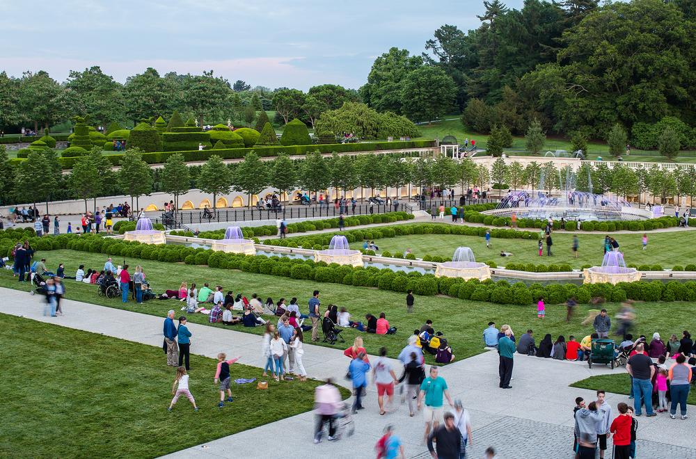West 8 worked on the $90m revitalisation of Longwood's Main Fountain Garden in Pennsylvania