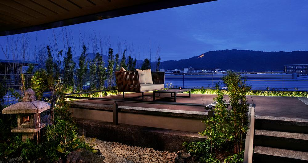 The Tsukimi Suite at the Ritz Carlton Kyoto features a 'moon viewing deck'