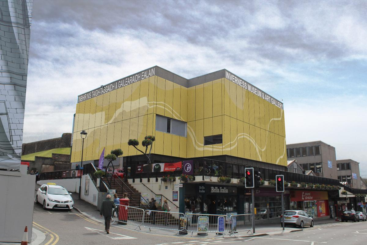 Designed by Threesixty Architecture, the overcladding will be golden in colour